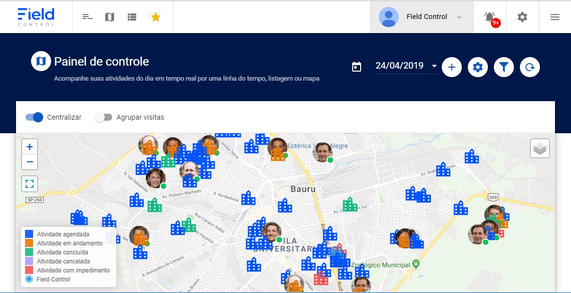 Benefícios da localização em tempo real para sua equipe