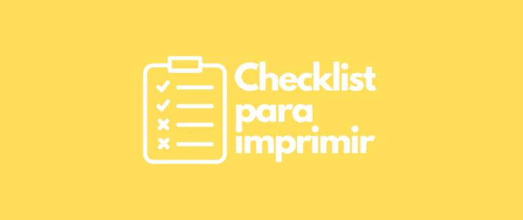Checklist para imprimir: modelo pronto para empresas